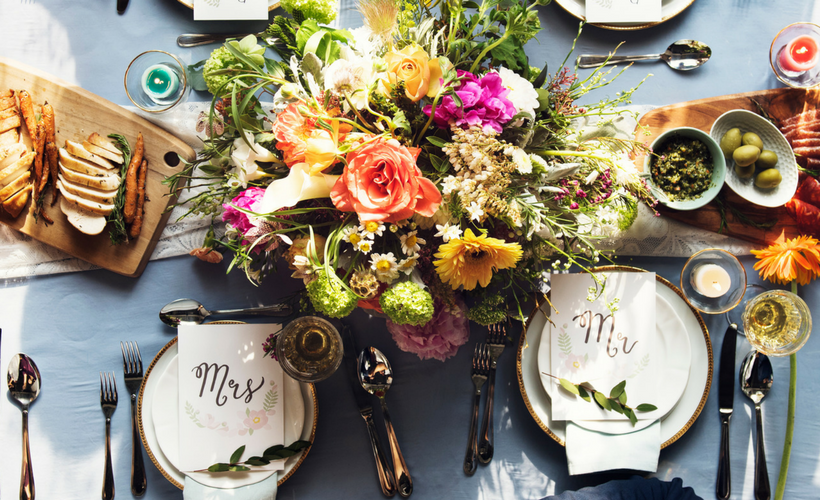 Mr Mrs Birds Eye Table Casey Green Weddings Blog