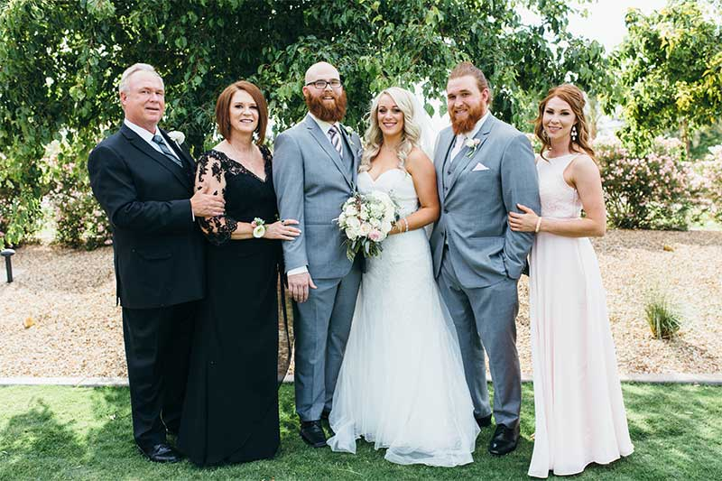 Southwick Linens Family Photo Casey Green Weddings Arizona