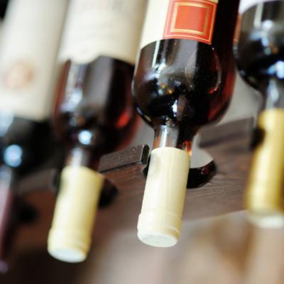 Upside down Wine Bottles